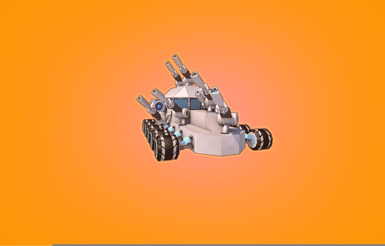 Photo wallpaper Minimalism, The game, Machine, Cube, Tank, Game, Robocraft, Kraft, Robocraft