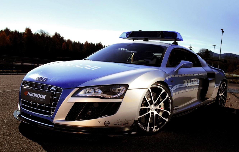 Photo wallpaper the sky, Audi, audi, tuning, police, concept, the concept, police, tuning, the front, ABT, Abbot
