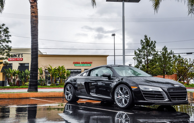 Photo wallpaper Audi, Rain, V10, Supercar, More, 2014