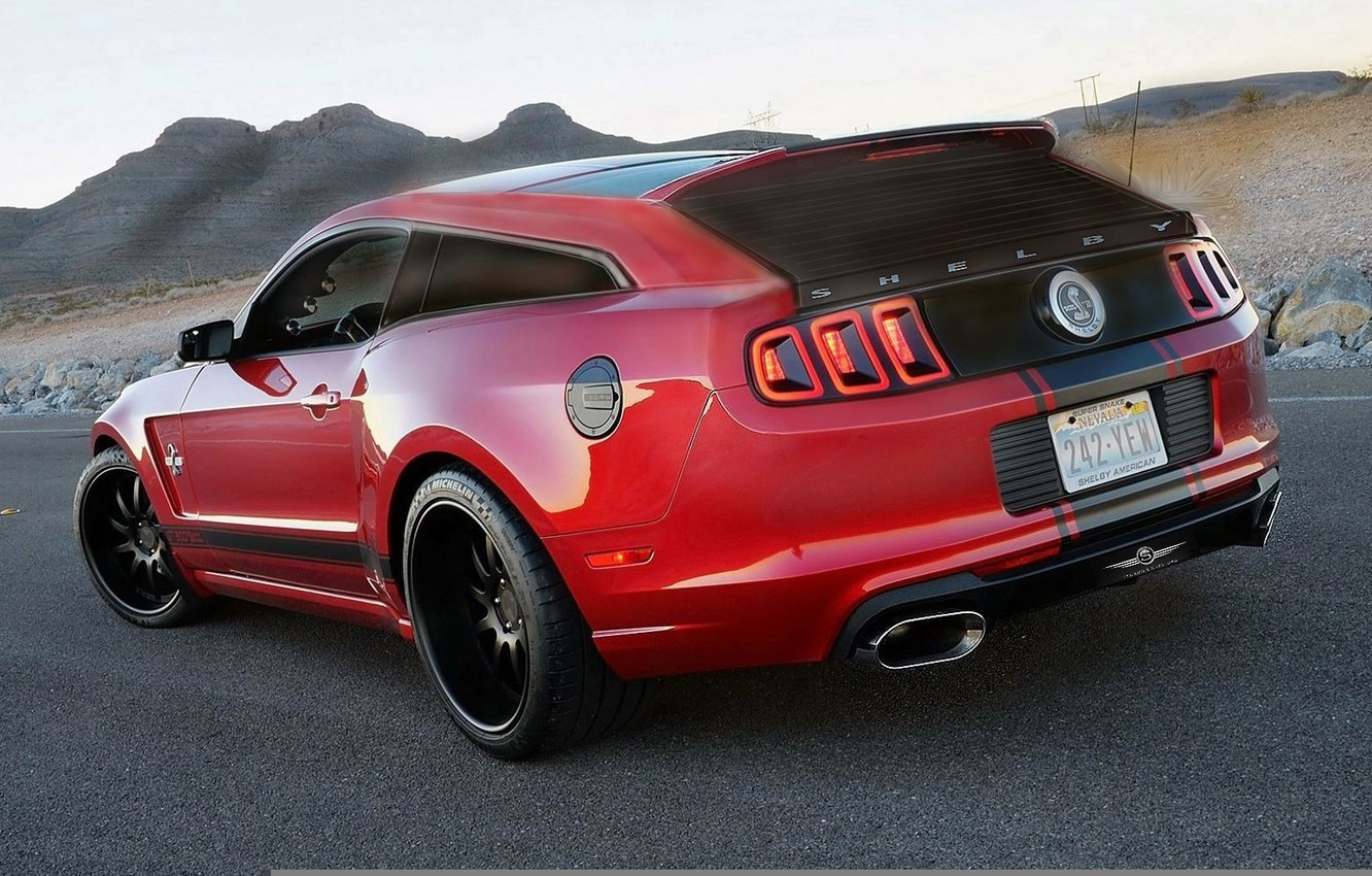 Photo wallpaper Mustang, Ford, Shelby, GT500, Red, Ford, Mustang, Red, Shelby, Wagon, Universal, Based-Shooting