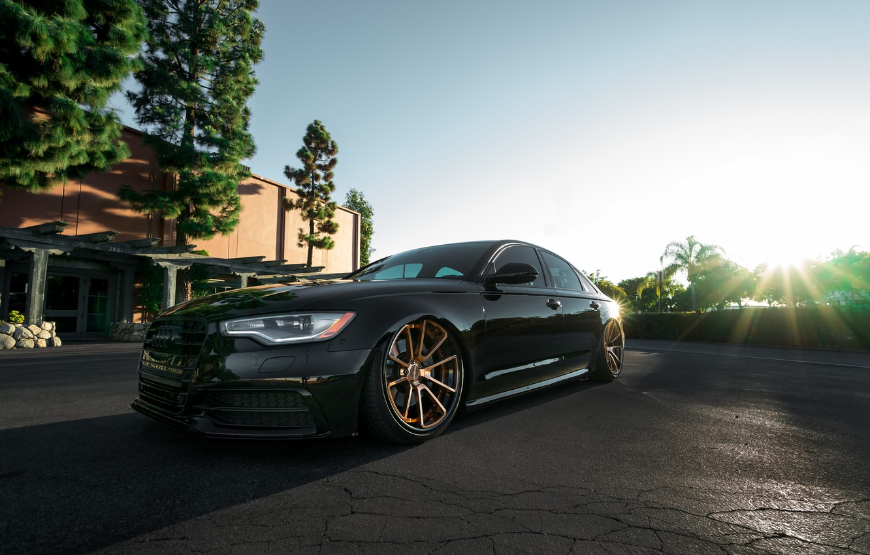Photo wallpaper Audi, Black, Wheels, Rotiform, Bronze, The dealership, Boden