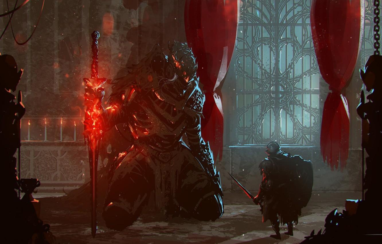 Photo wallpaper The game, Art, Game, Dark Souls III, Omar Bronze