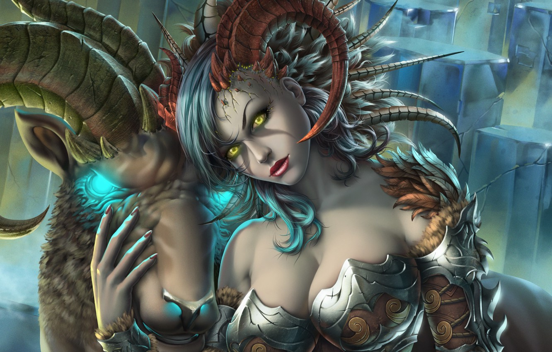 Photo wallpaper girl, art, fantasy, Capricorn