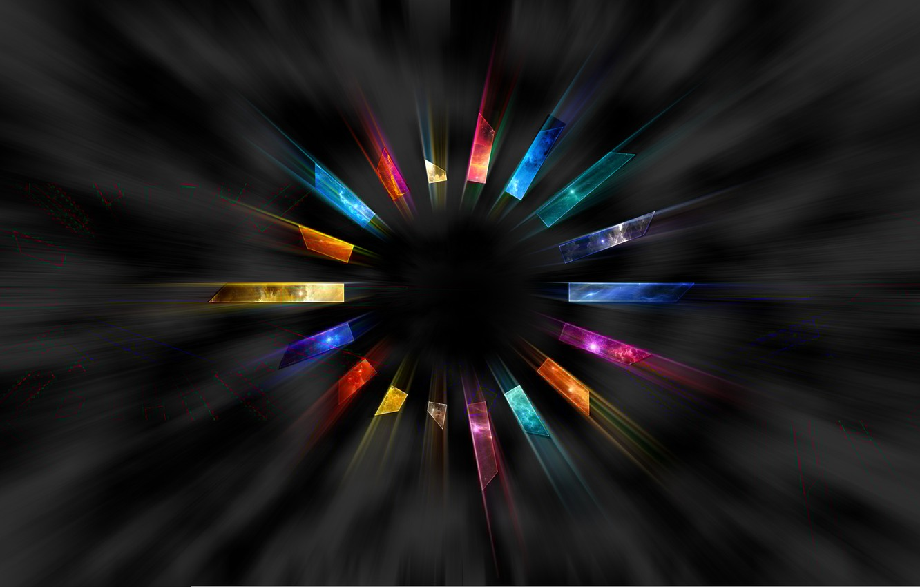 Photo wallpaper round, ring, colorful