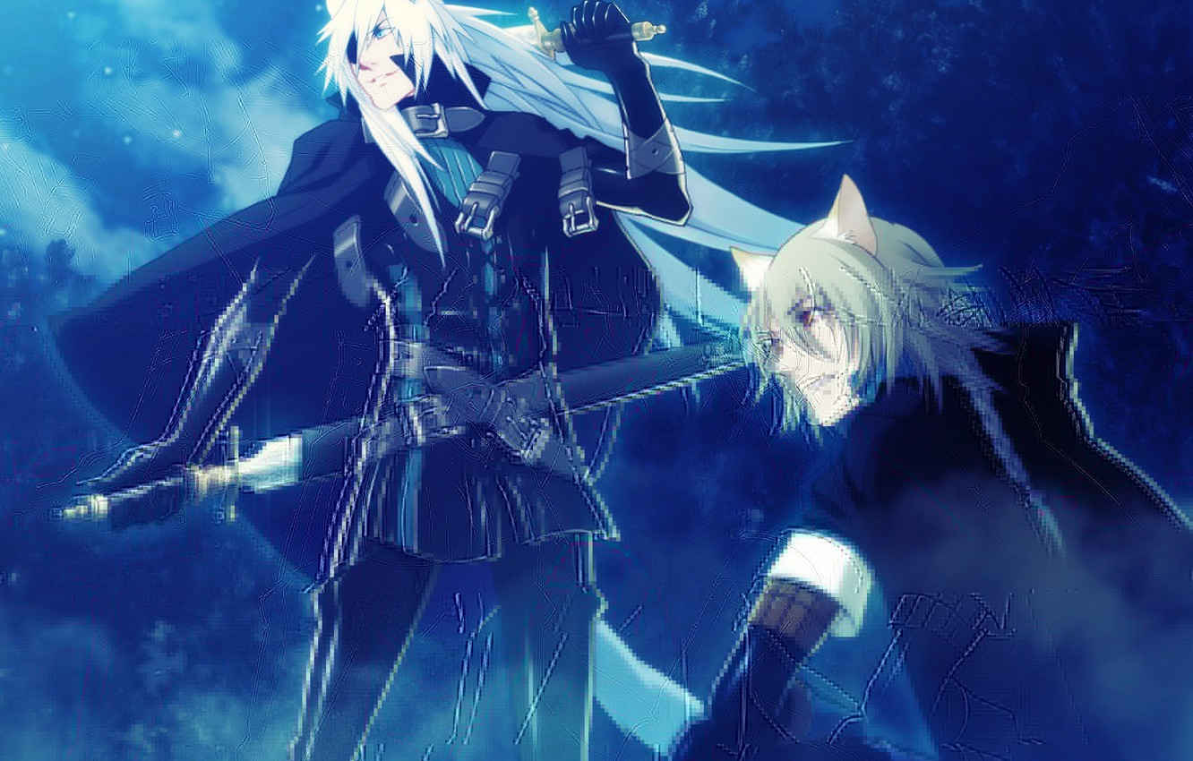 Photo wallpaper magic, tail, guys, ears, Lamento ~Beyond The Void