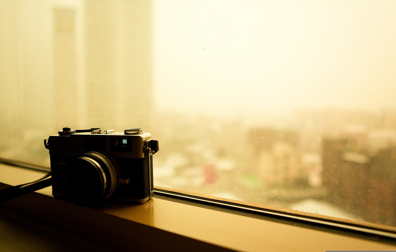 Photo wallpaper photo, camera, window, the camera, canon canonet ql