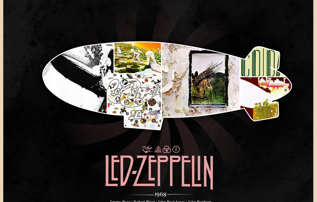 Wallpaper The Airship Rock Classic Led Zeppelin 1968 Jimmy