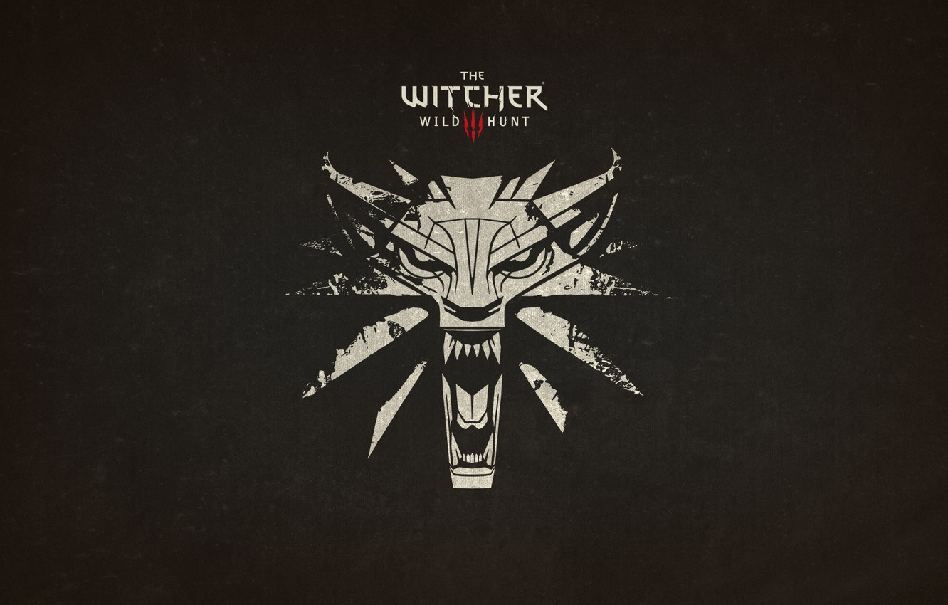 Photo wallpaper Wolf, Logo, The Witcher, Amulet, Witcher