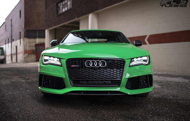 Photo wallpaper green, audi, RS7