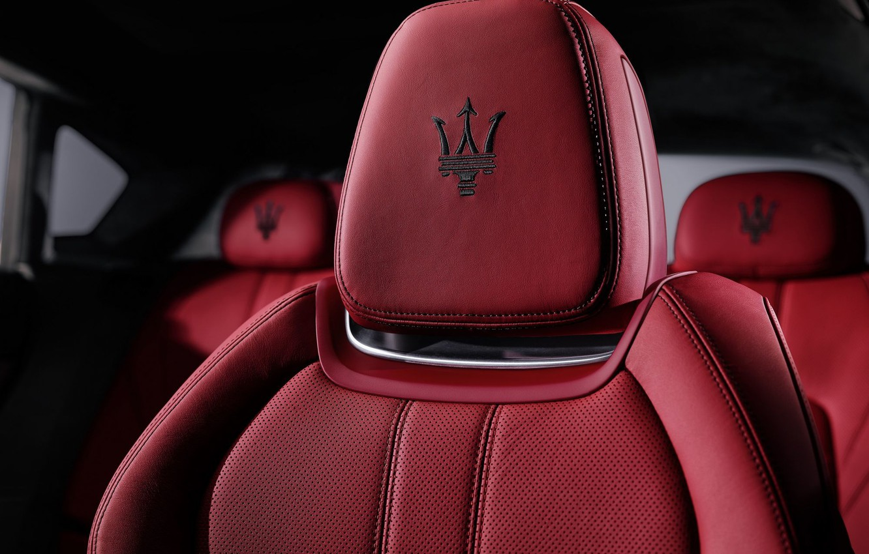 Photo wallpaper red, icon, chair, logo, maserati, seat