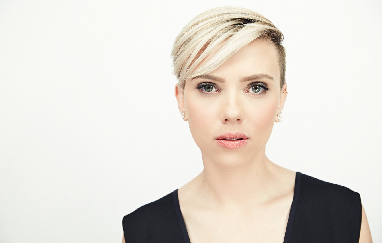 Wallpaper Model Portrait Makeup Actress Scarlett Johansson Hairstyle Blonde Photographer White Background Scarlett Johansson Photoshoot Raskind Film Independent Spirit Awards Smallz Images For Desktop Section Devushki Download
