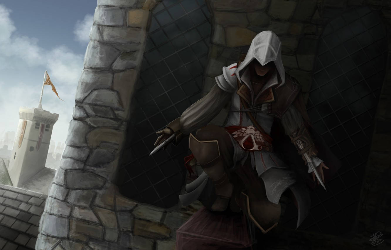Wallpaper Art Assassins Creed Assassin Ezio Ezio Images For