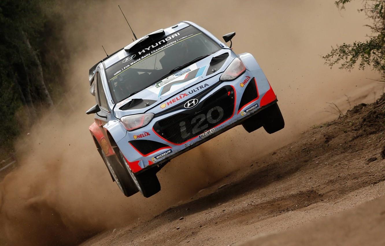 Photo wallpaper Jump, Hyundai, Mexico, WRC, Rally, i20, 2015