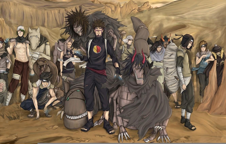 Photo wallpaper game, monkey, snake, naruto, crow, kankurou, sand, ninja, puppet, shinobi, japanese, naruto shippuden, kunoichi, hitayate, …