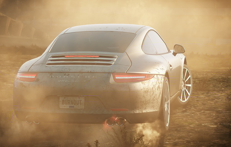 Wallpaper Race Smoke Dust Porsche 911 Need For Speed Most
