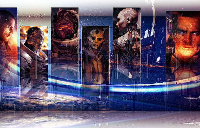 Photo wallpaper Ghost, galaxy, captain, effect, zero, shepard, man, Jack, Shepard, jack, galaxy, mass, effect, thane, Cerberus, …