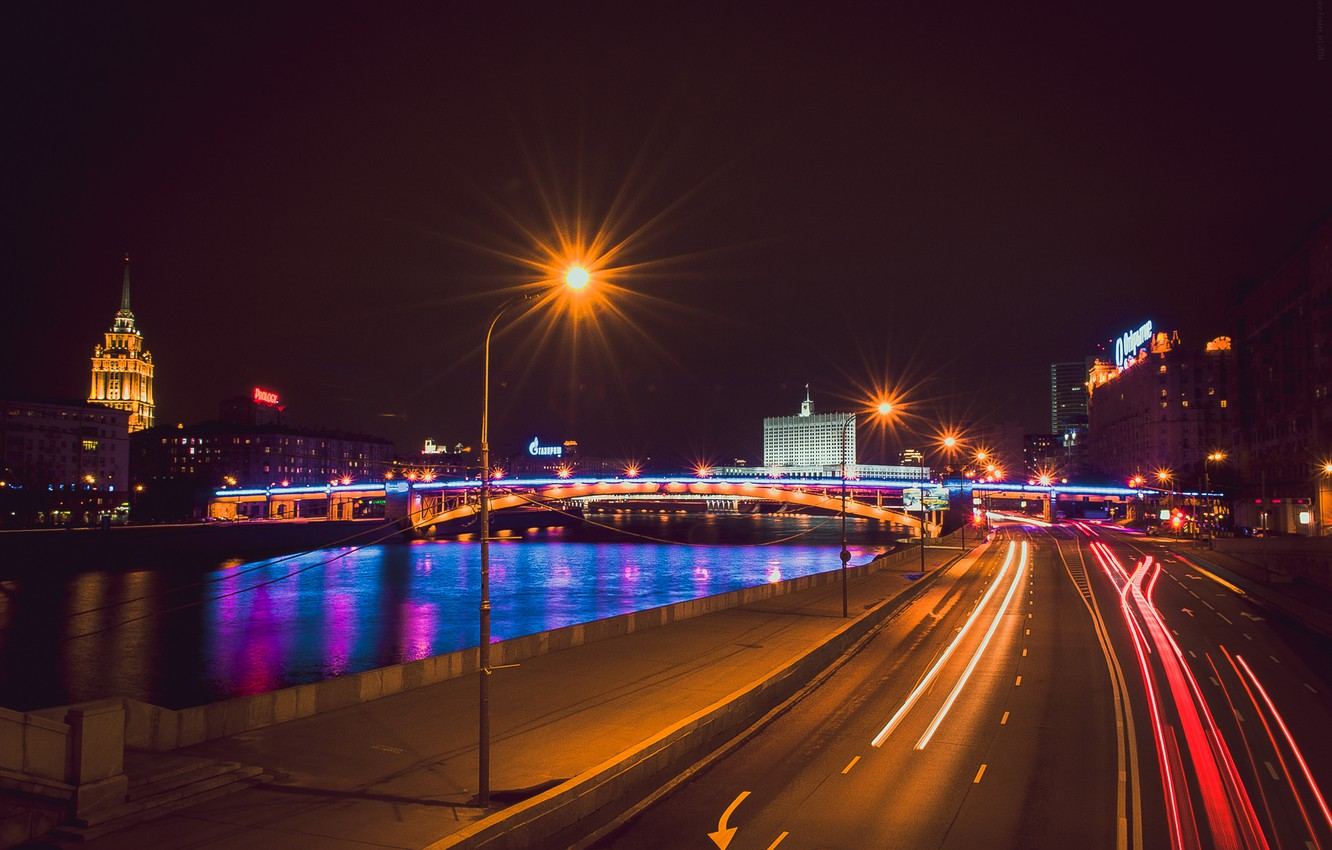 Wallpaper Night Moscow Night City Moscow At Night The