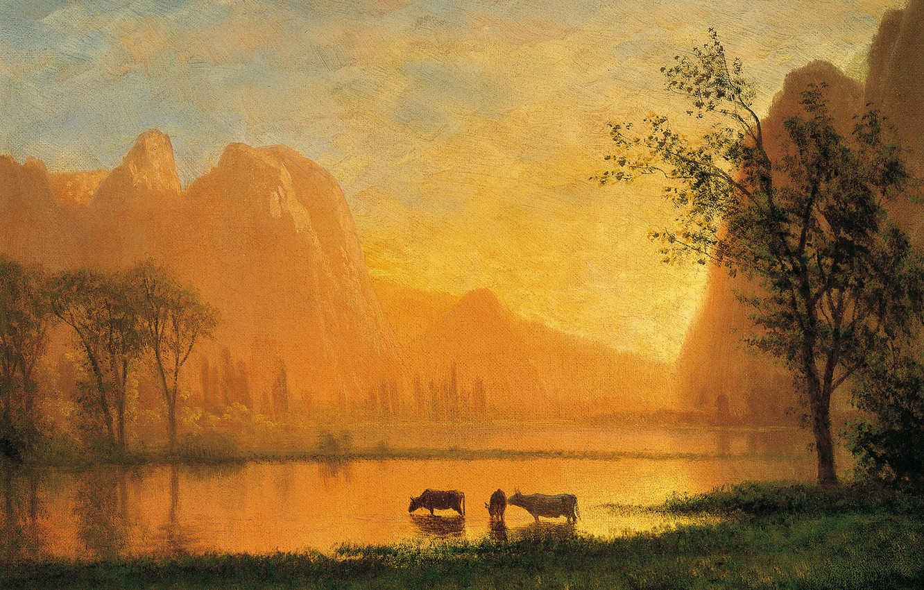 Wallpaper Landscape Mountains Lake Picture Sunset In