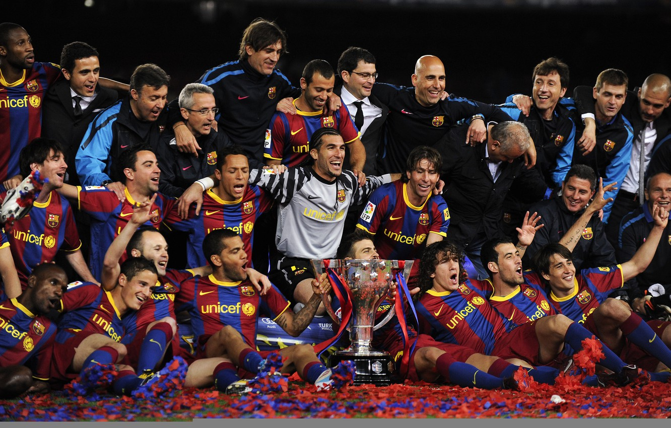 Wallpaper Spain Barcelona Football Messi Messi Iniesta Soccer David Villa Barcelona Xavi Spades Puyol Iniesta Images For Desktop Section Sport Download