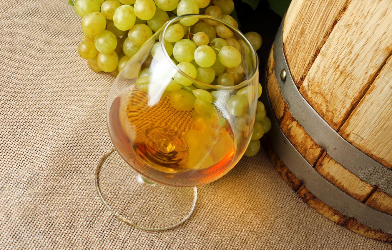 Photo wallpaper grapes, alcohol, cognac