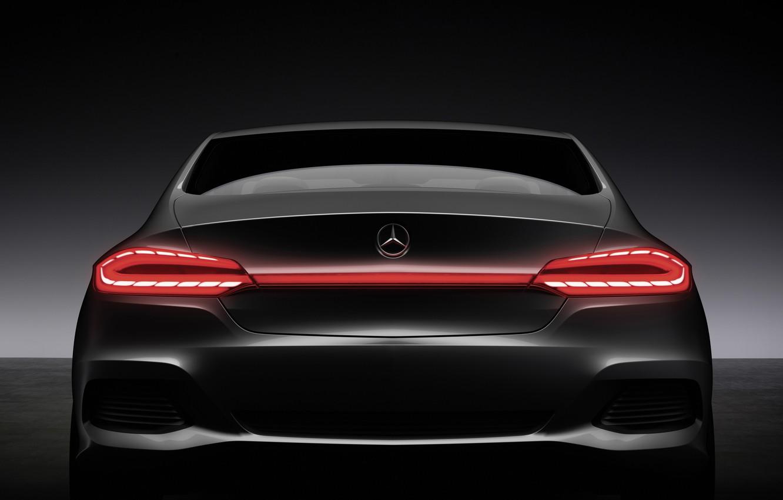 Photo wallpaper machine, black, cars, Mercedes, auto walls, mercedes f800