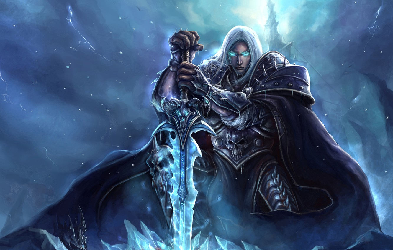 Wallpaper Wow World Of Warcraft Lich King Art Arthas
