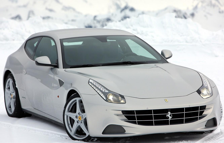 Photo wallpaper Ferrari, Winter, '2011