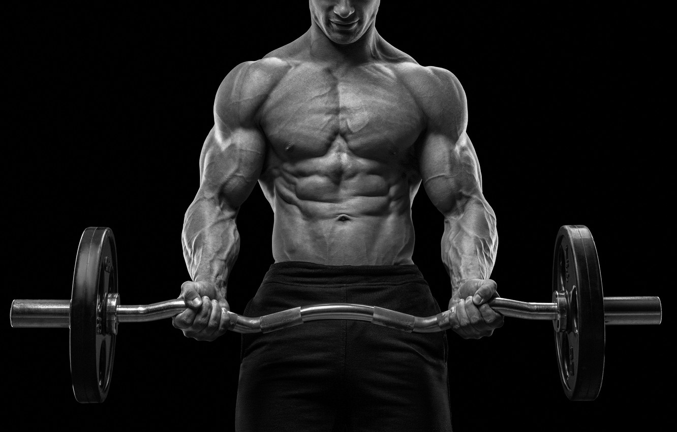 Wallpaper Muscle Muscle Rod Background Black Muscles Press Gym Bodybuilding Bodybuilder Training Abs Weight Bodybuilder Images For Desktop Section Sport Download