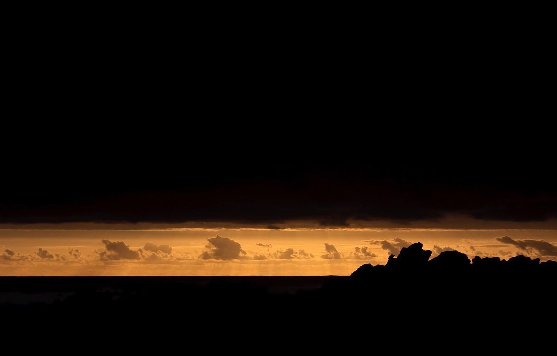 Photo wallpaper clouds, sunset, Africa