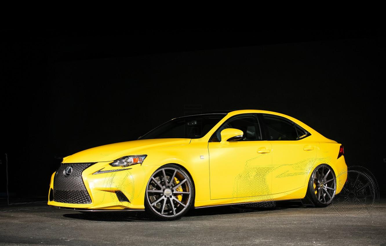 Photo wallpaper Yellow, Lexus, Tuning, Lexus, Vossen