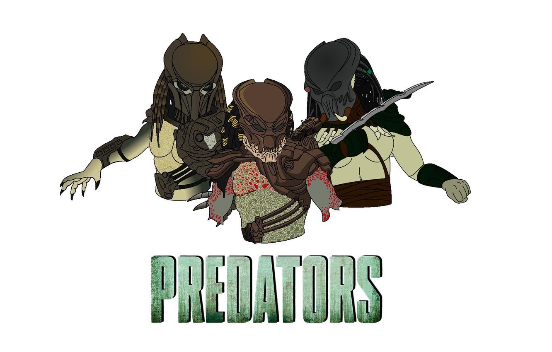 Photo wallpaper hunters, Predators, Berserkers