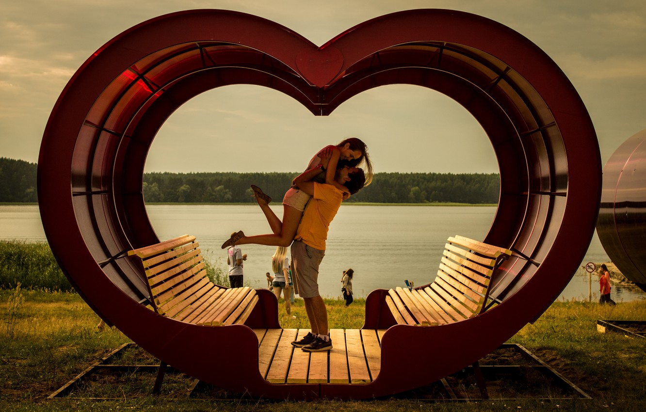 Wallpaper Love Couple Happiness Heart Images For Desktop