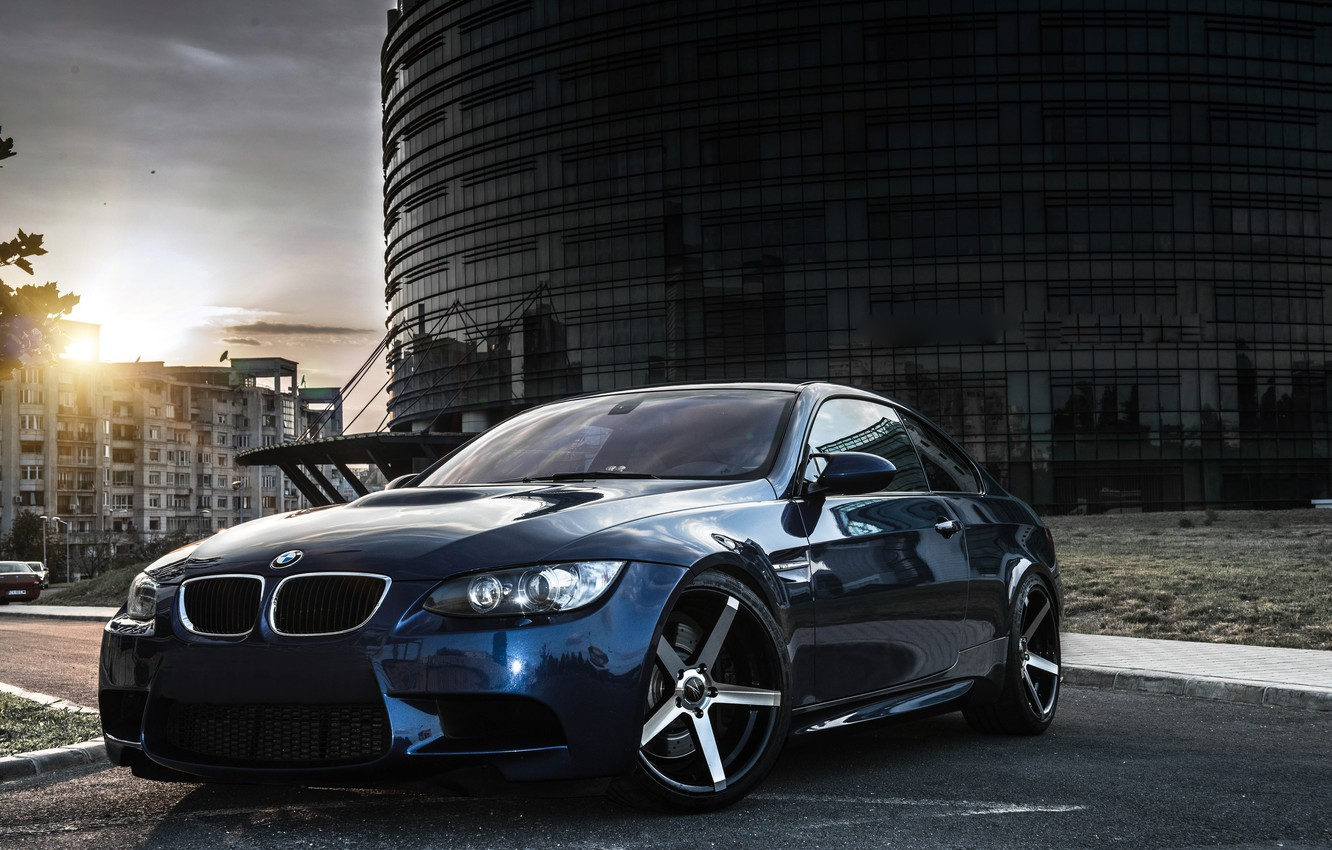 Photo wallpaper BMW, Tuning, Blue, BMW, Drives, E92, Deep Concave