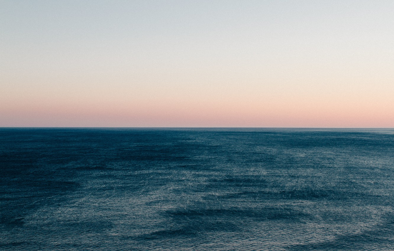 Photo wallpaper sea, the sky, horizon, twilight