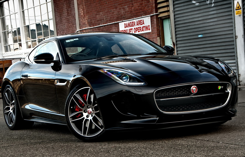 Photo wallpaper black, jaguar, coupe, f-type