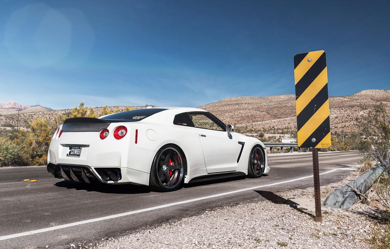 Photo wallpaper sign, tuning, back, Nissan, nissan gtr