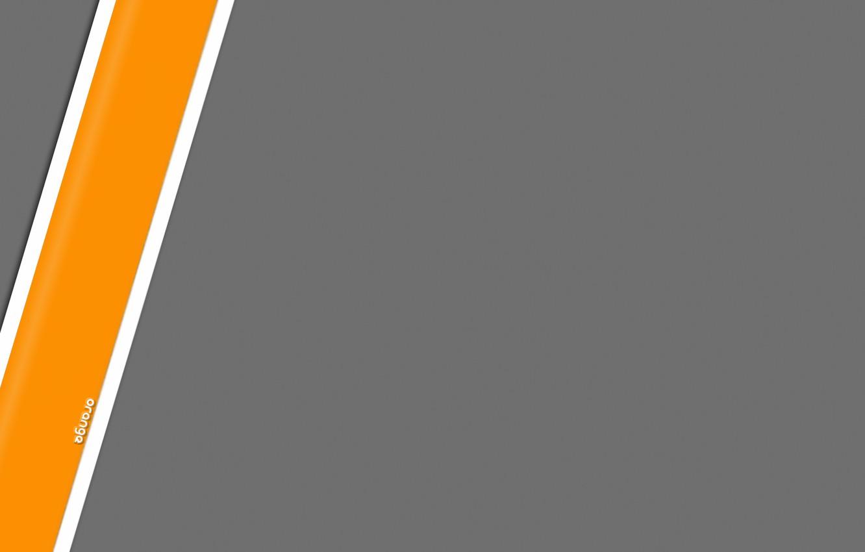 Wallpaper Grey Strip Minimalism Orange Images For Desktop