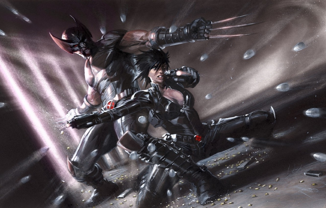 Wallpaper Wolverine Marvel Comics Domino X Force Sex