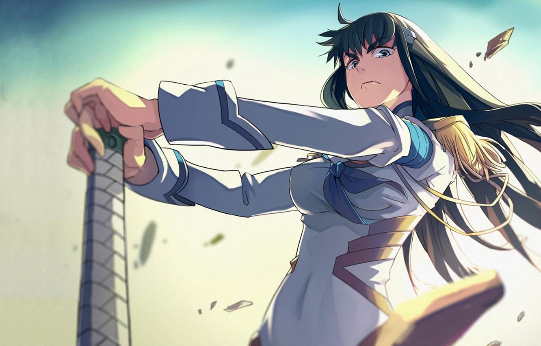 Photo wallpaper look, Anime, Kiryuu's Satsuki, Kill-la-Kill, handle.