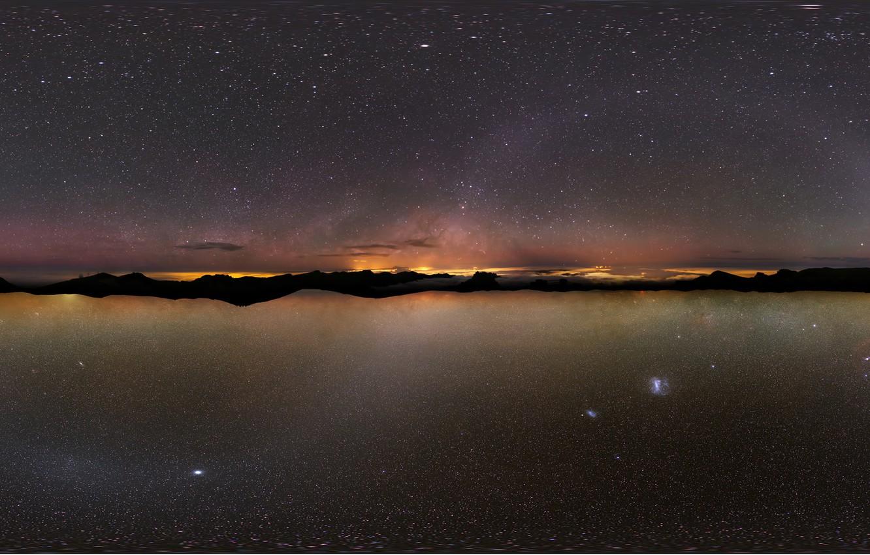 Photo wallpaper the sky, stars, The milky way, Ostrava, Atacama., Canary
