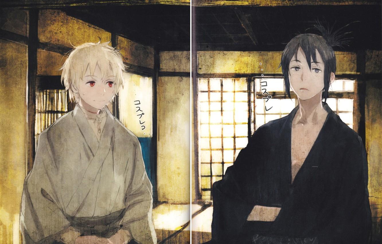 Wallpaper Look Smile Guy Kimono Art Shion Nezumi The