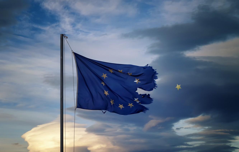 Photo wallpaper the sky, star, Flag, EU countries