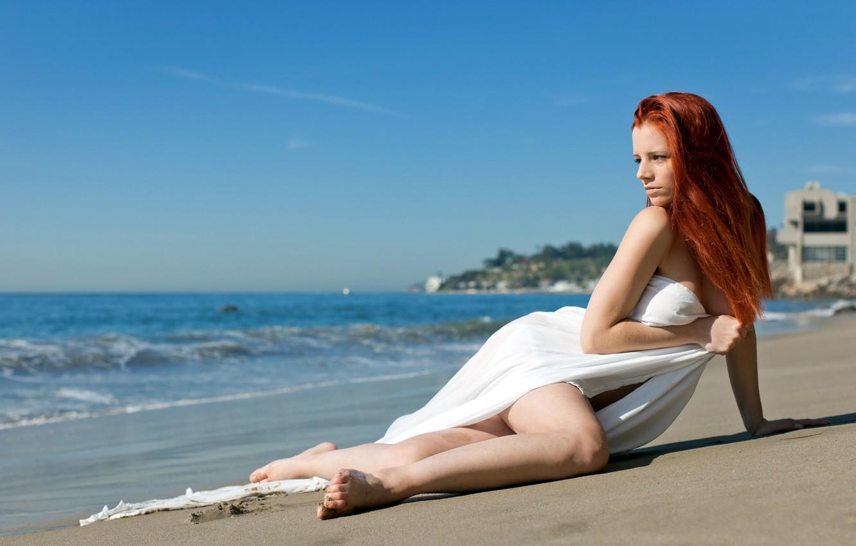 Photo wallpaper sand, beach, water, Piper Fawn