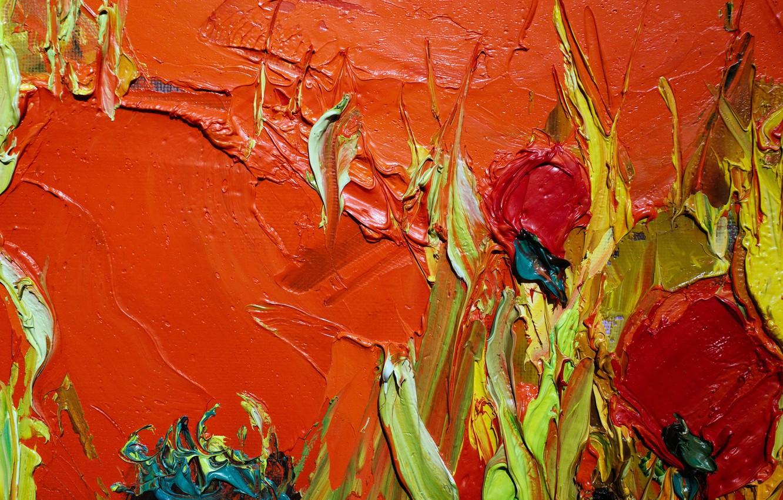 Photo wallpaper paint, oil, Oil texture