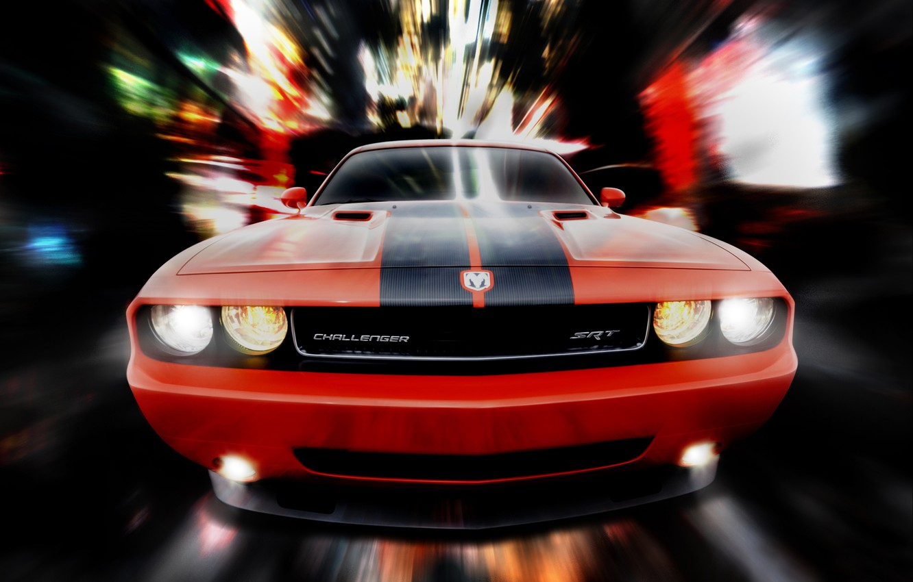Photo wallpaper red, SRT8, dodge