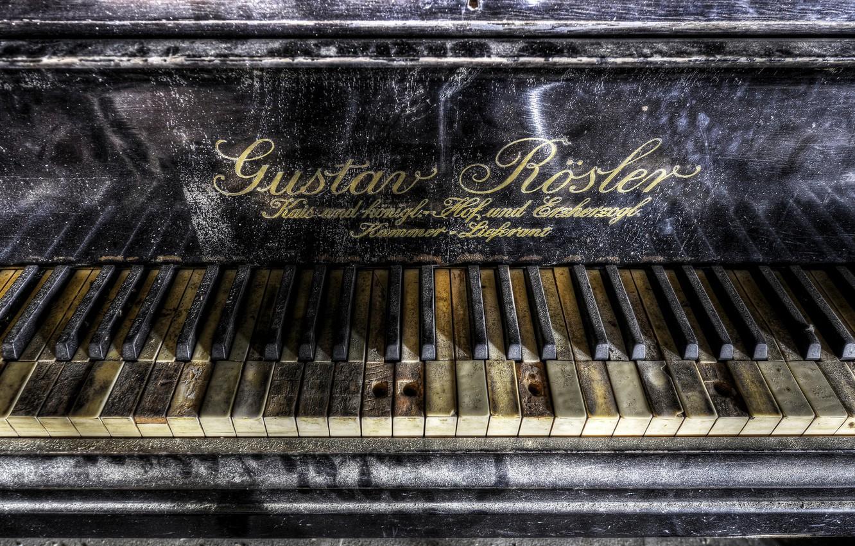 Photo wallpaper music, background, piano