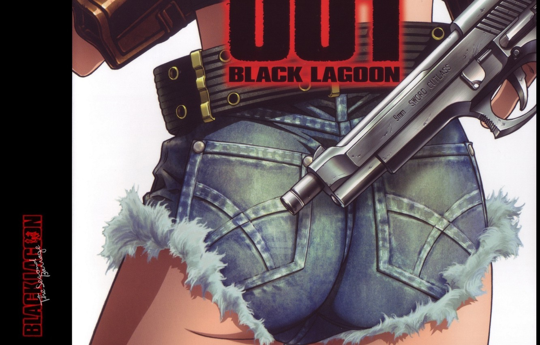 Photo wallpaper gun, ass, Black Lagoon, Revy, trunk, holster, cool, Pirates of the Black lagoon, by Hiroe …