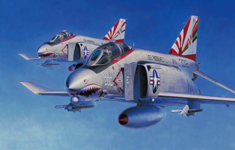 Wallpaper F 4 Phantom Aviation Ww2 Painting Fighter Art Jet