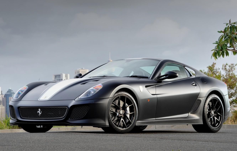 Photo wallpaper Ferrari, grey, Ferrari, 599, GTO