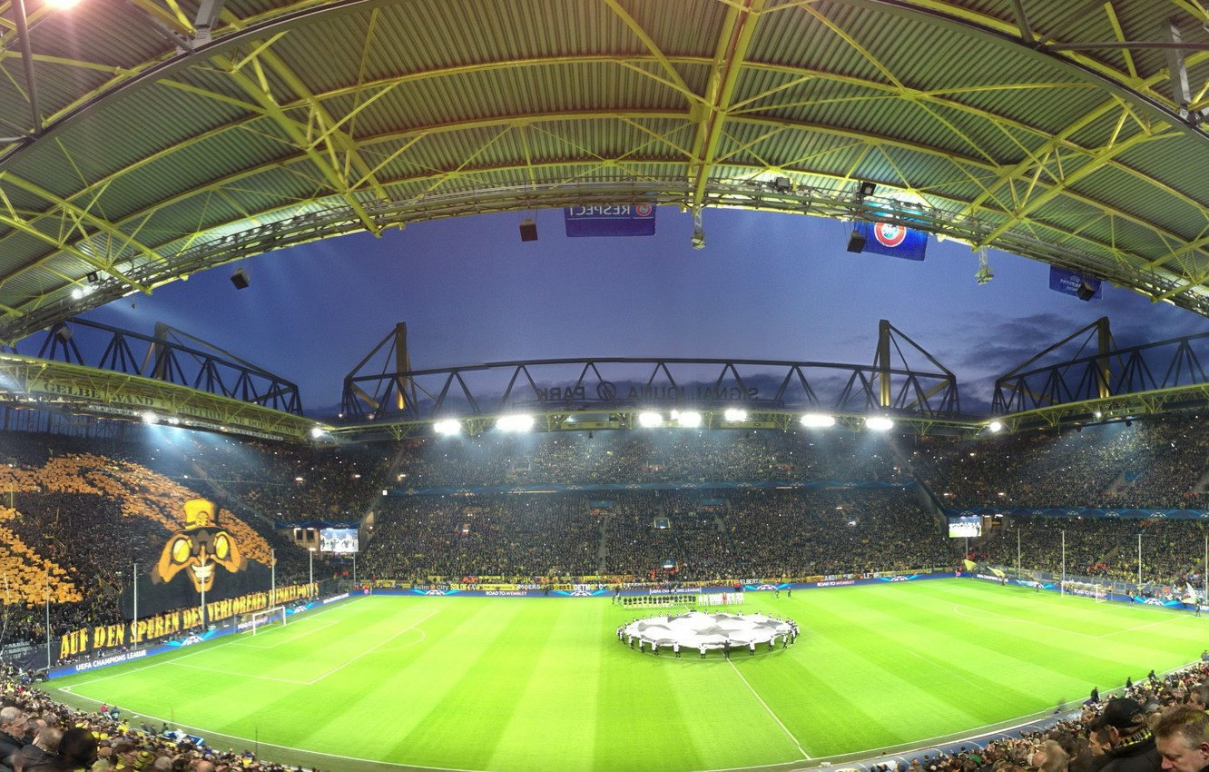 Photo wallpaper football, Champions League, UEFA, dortmund, borussia, signal iduna park